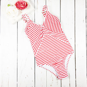 Kona Sol Red and White One Piece Swimsuit XS